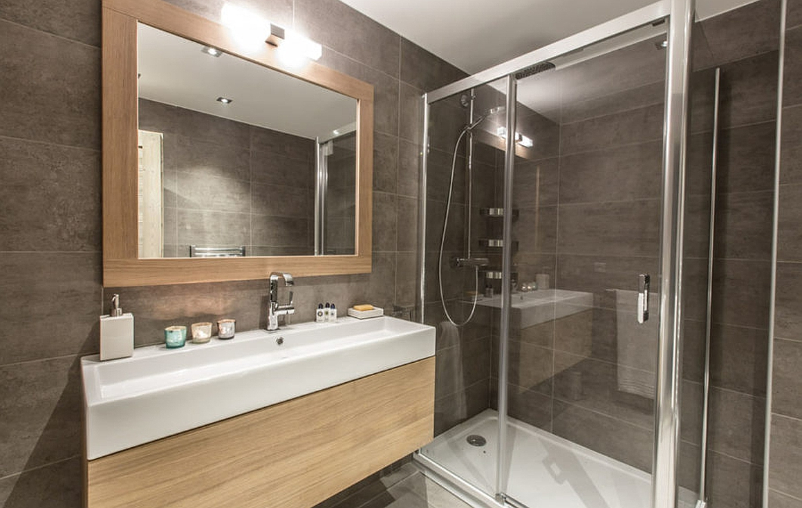 Bathroom example finishes for Meribel property for sale