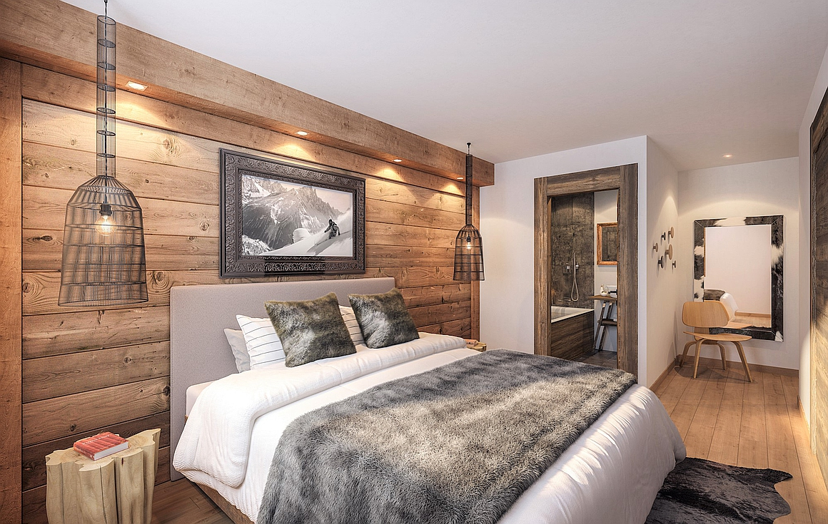 Example Bedrooms of the ski apartments for sale