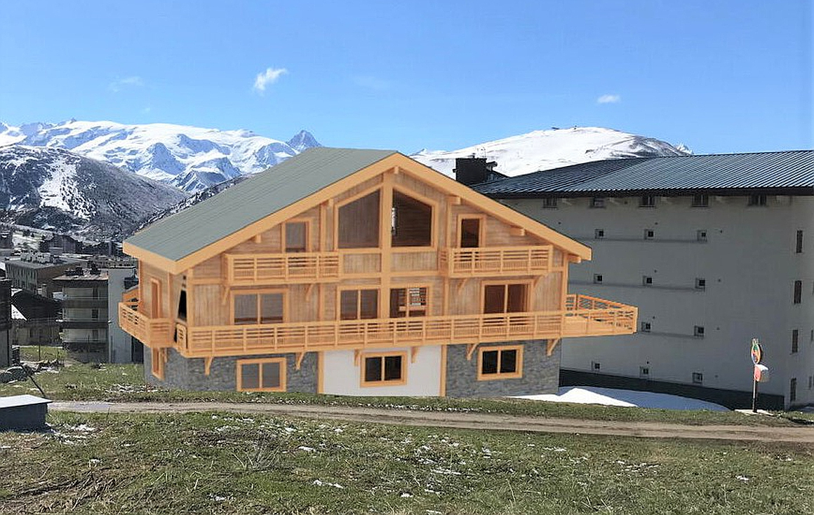 The stunning property for sale in Alpe d'Huez