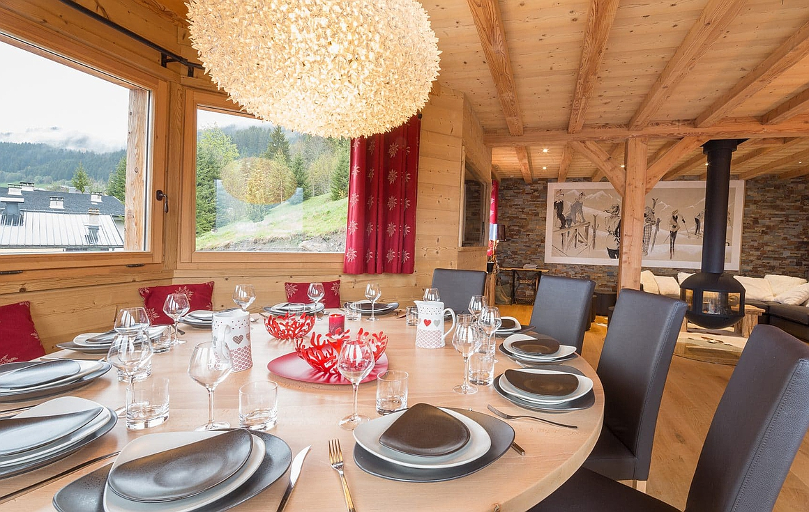 Living area of chalet for sale in Chatel