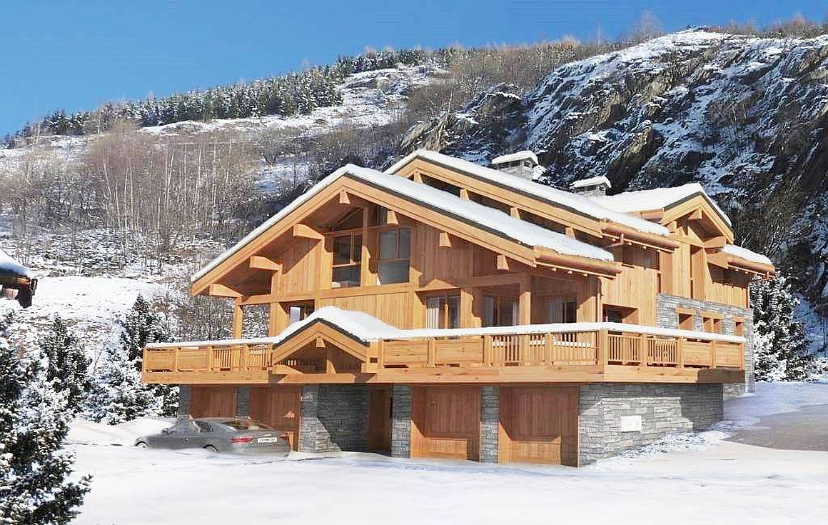 The chalet for sale in the 3 Valleys