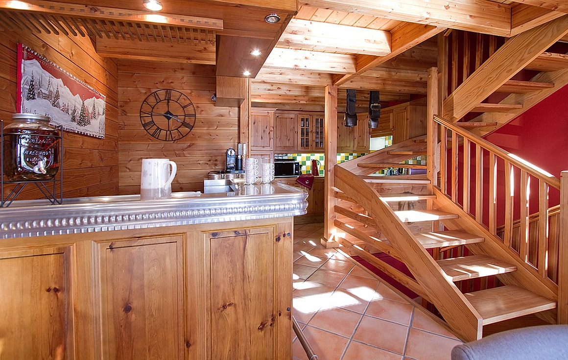 Interior of the chalet for sale