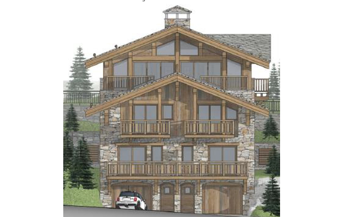 3D visual of chalet No 2