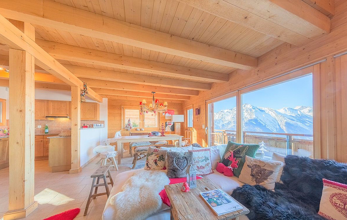 The ski chalet in Nendaz