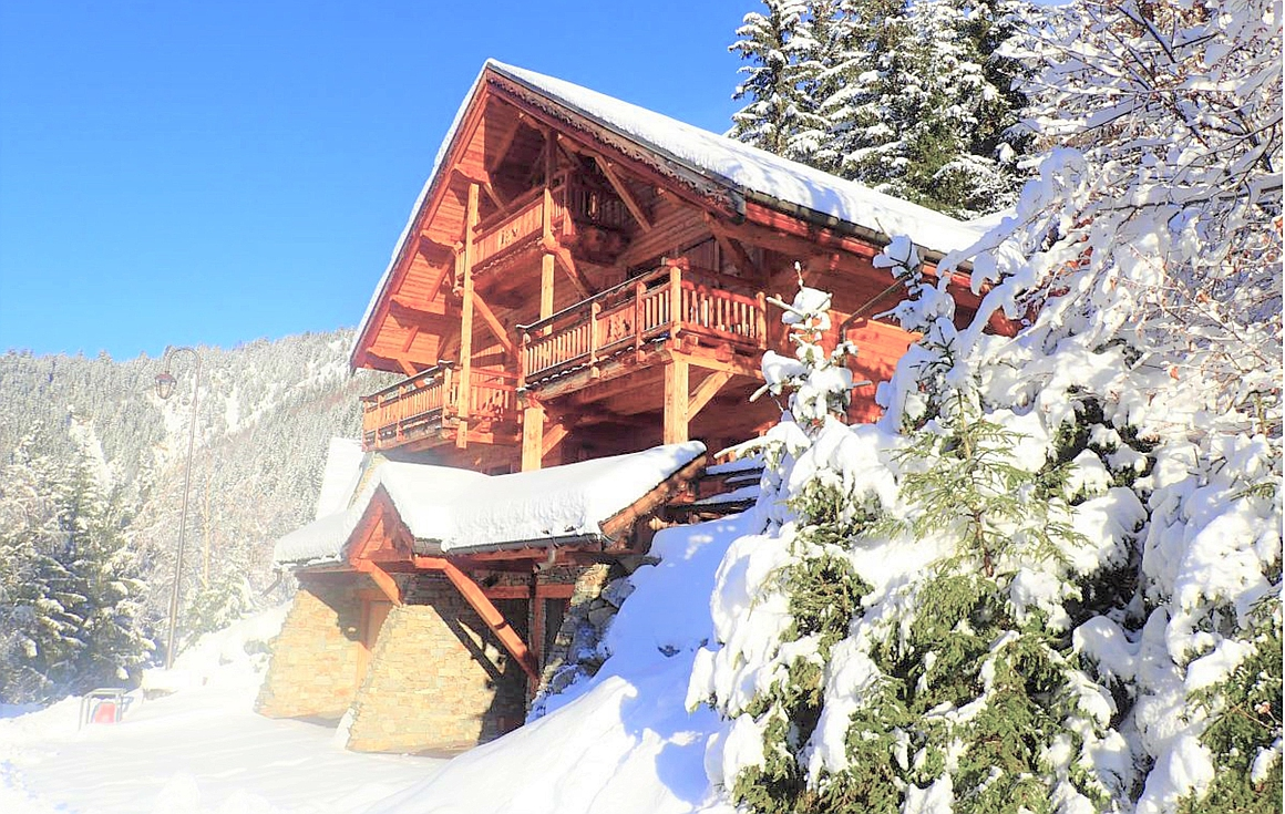 The exterior of the chalet for sale in Oz en Oisans