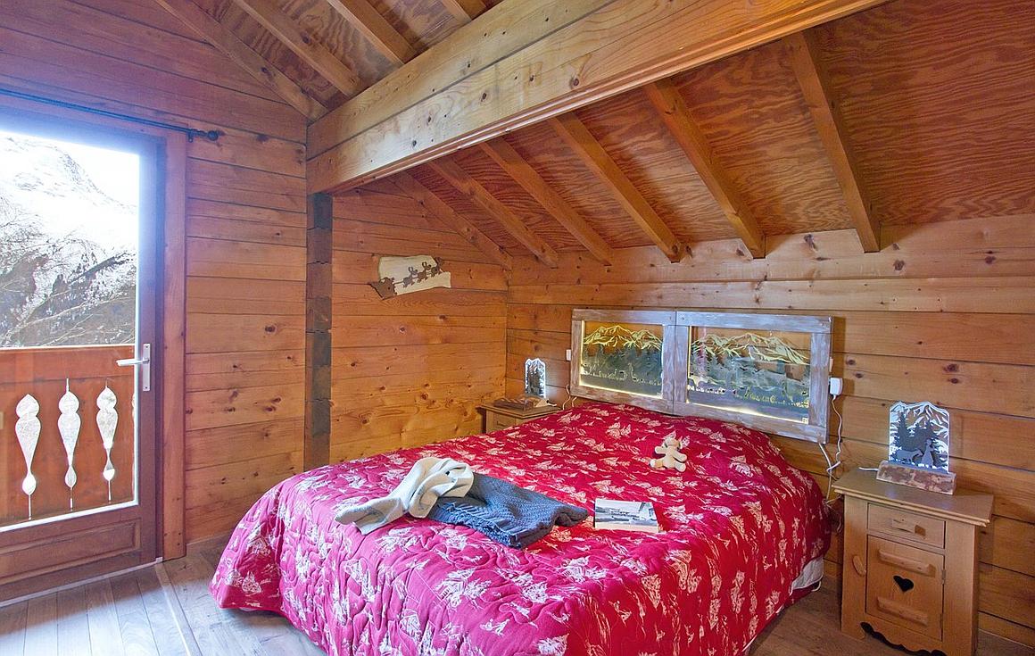 Bedrooms in the chalet