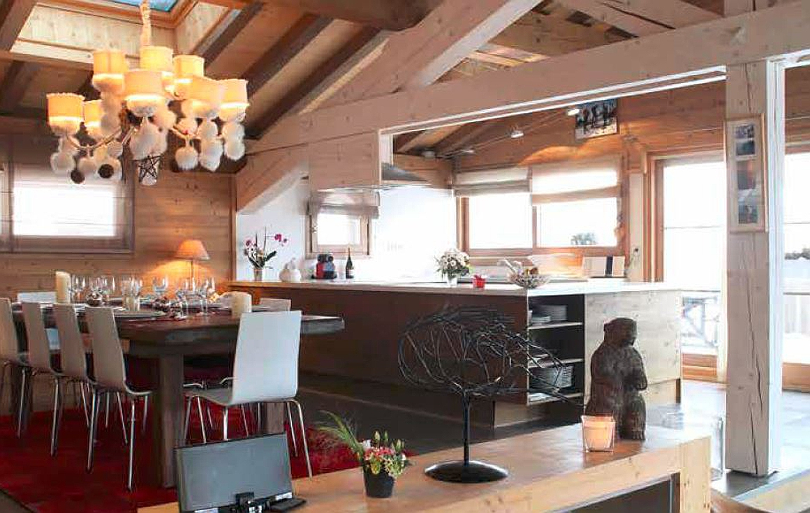 Interior of the chalet