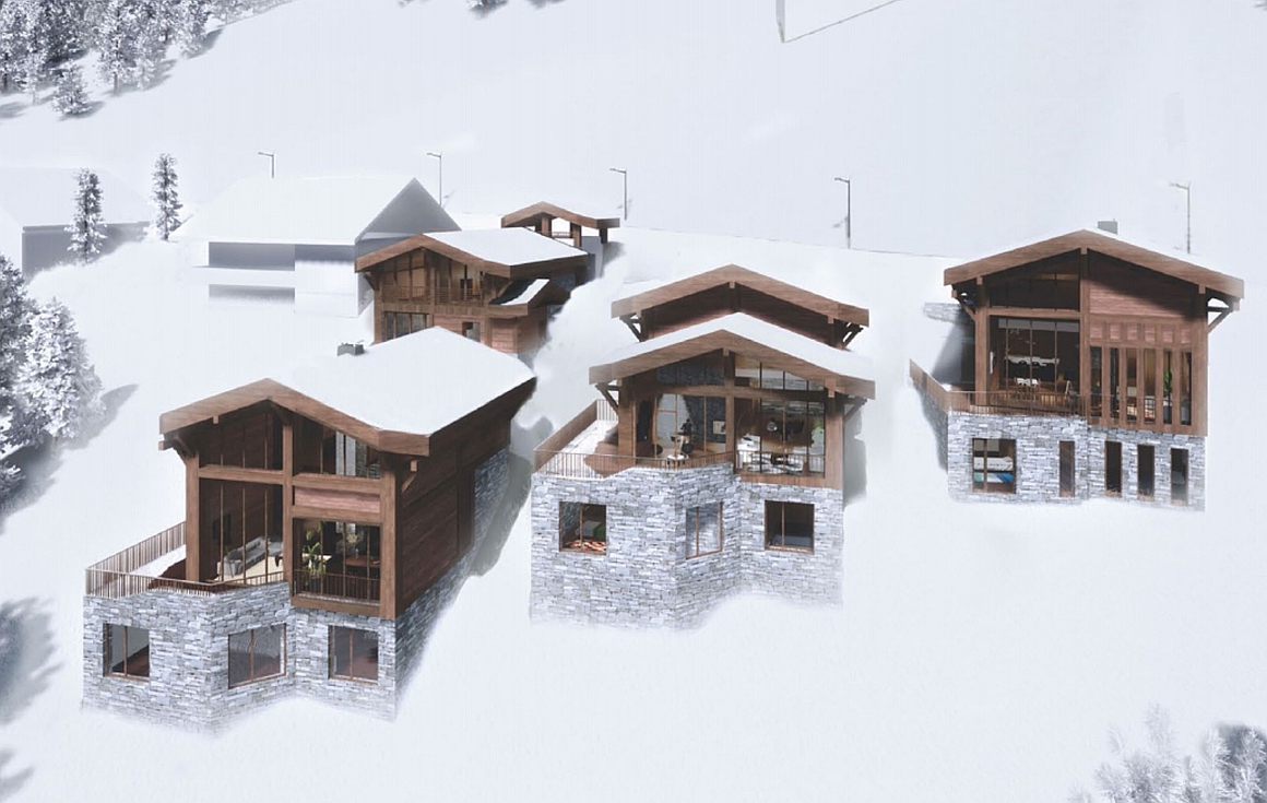 The Les Gets chalets for sale in winter