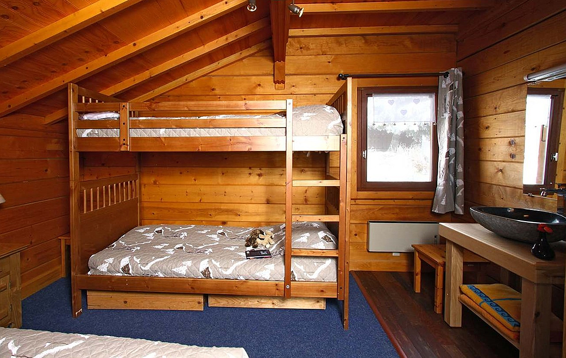 The bedrooms of the chalet