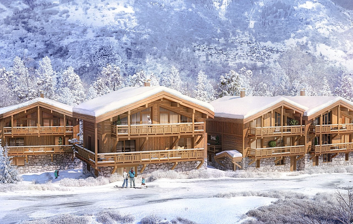 Luxurious chalets for sale in Courchevel