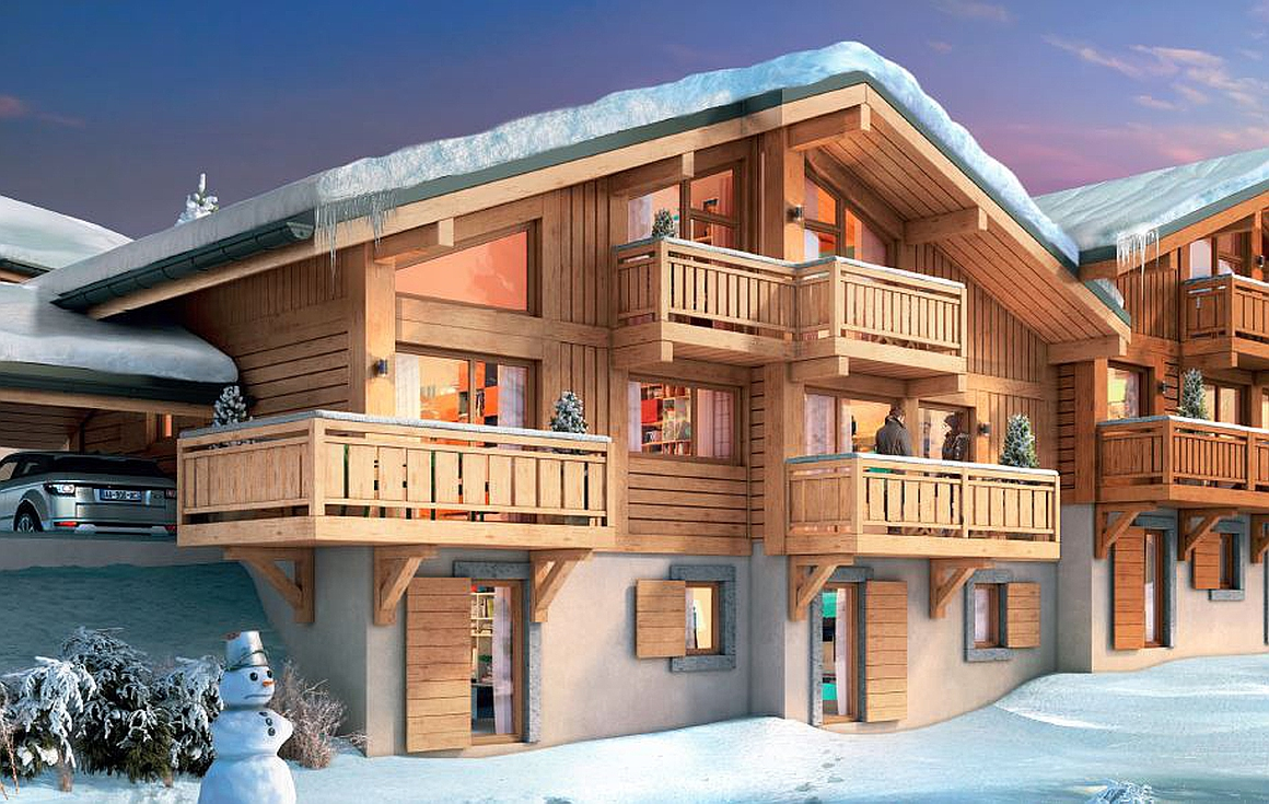 The apartments for sale in Samoens