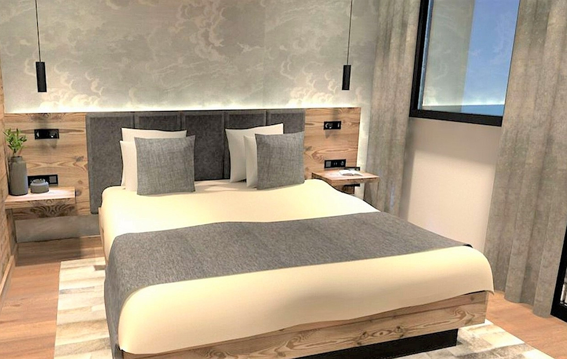 Bedrooms of the chalet