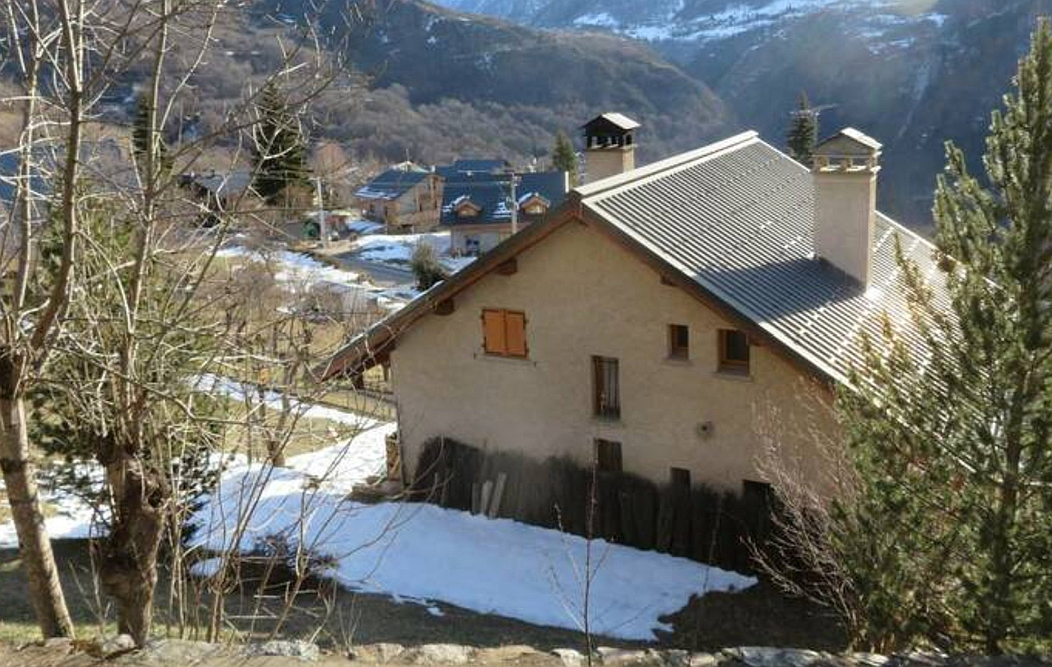 The chalet exterior showing views