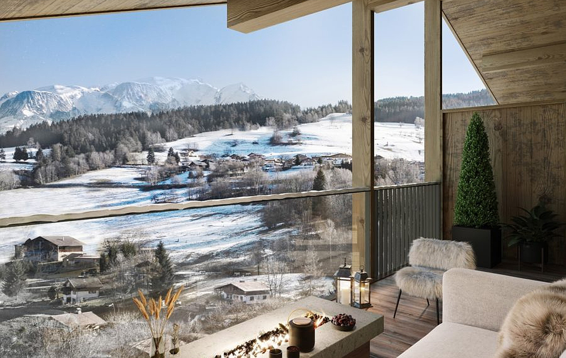 Outstanding ski apartment views
