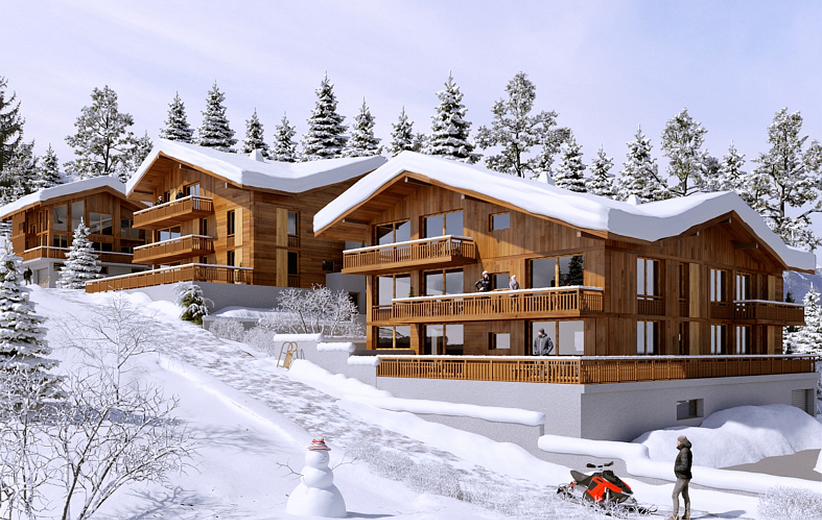 Exterior of apartments for sale in Combloux