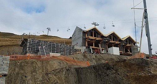 La Toussuire chalets under construction