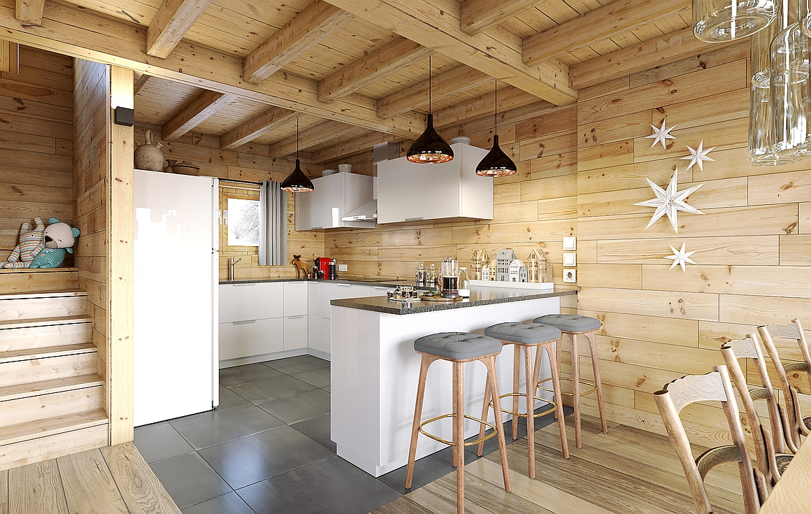Example finished chalet by developer