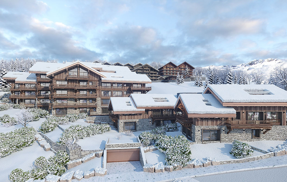 The chalets and apartments for sale in Meribel