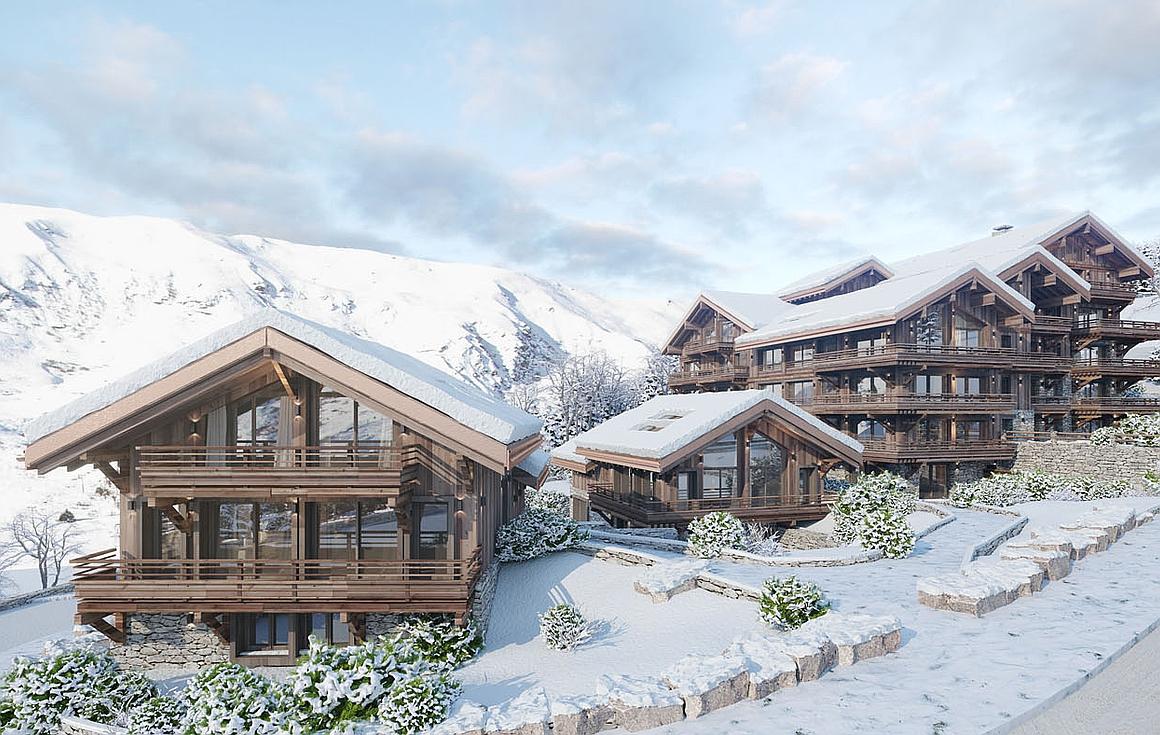3D visual exterior of Meribel apartments