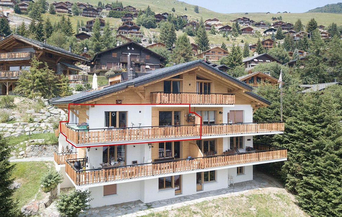 Exterior of apartment for sale in Verbier
