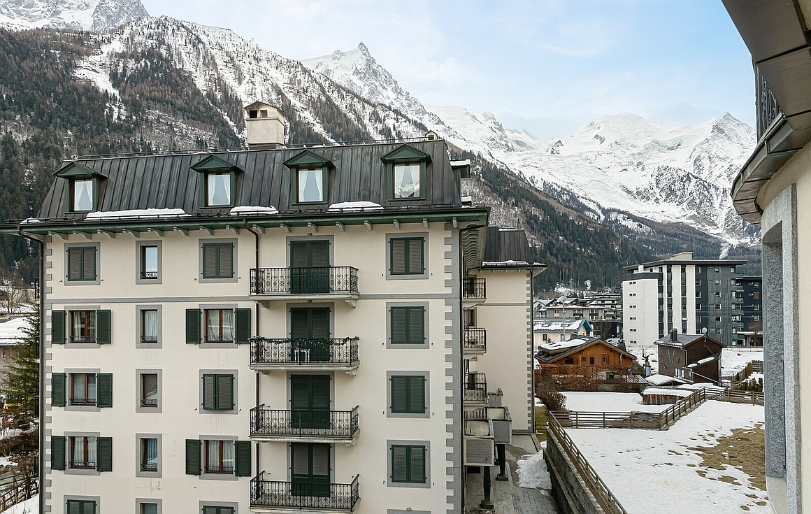 Exterior of apartment for sale in Chamonix