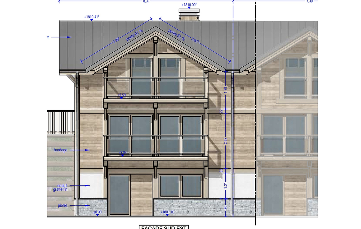 The ski in and out Chalet to be built
