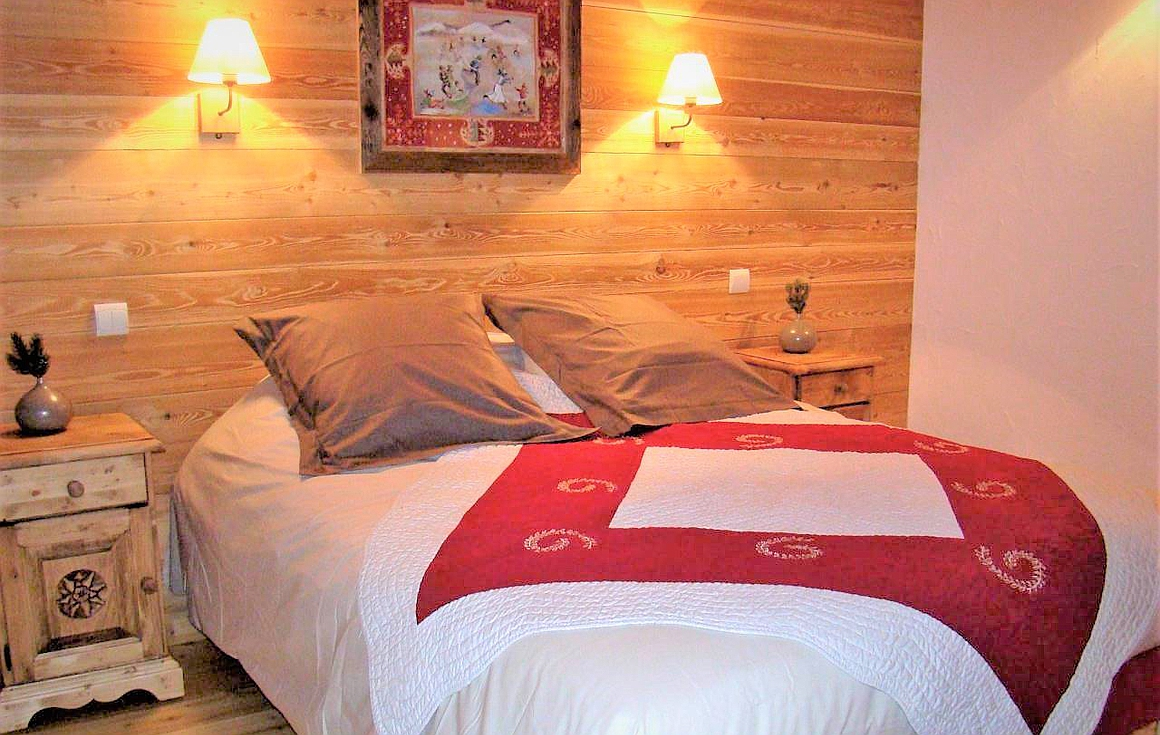 The bedrooms of the chalet for sale