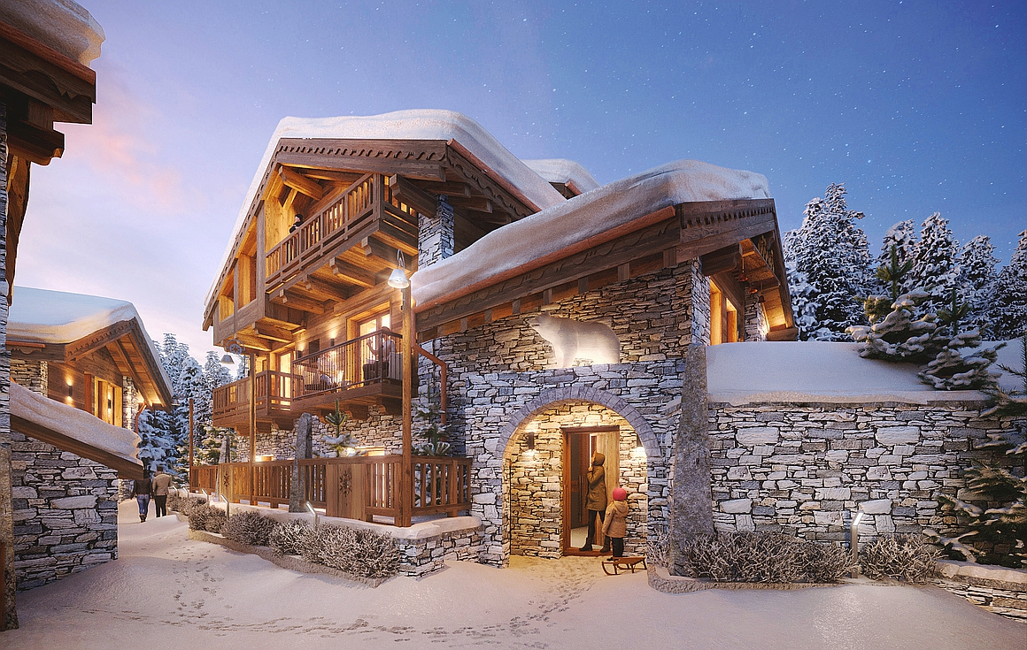 The stunning chalets