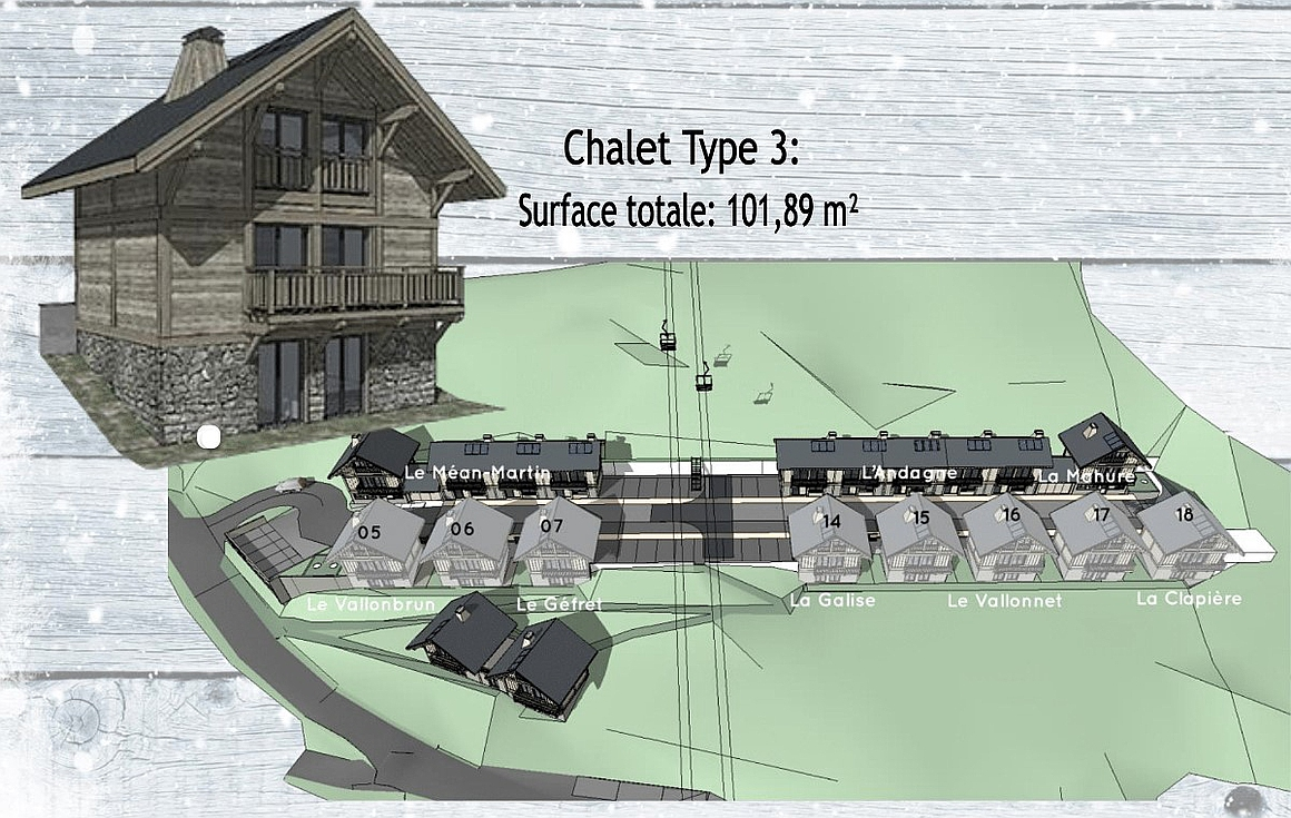 The Plan Masse showing the La Toussuire chalets