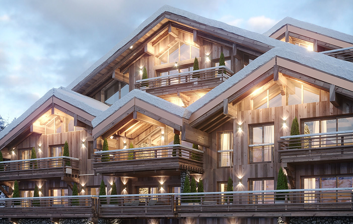 The amazing ski apartments for sale in the centre Meribel