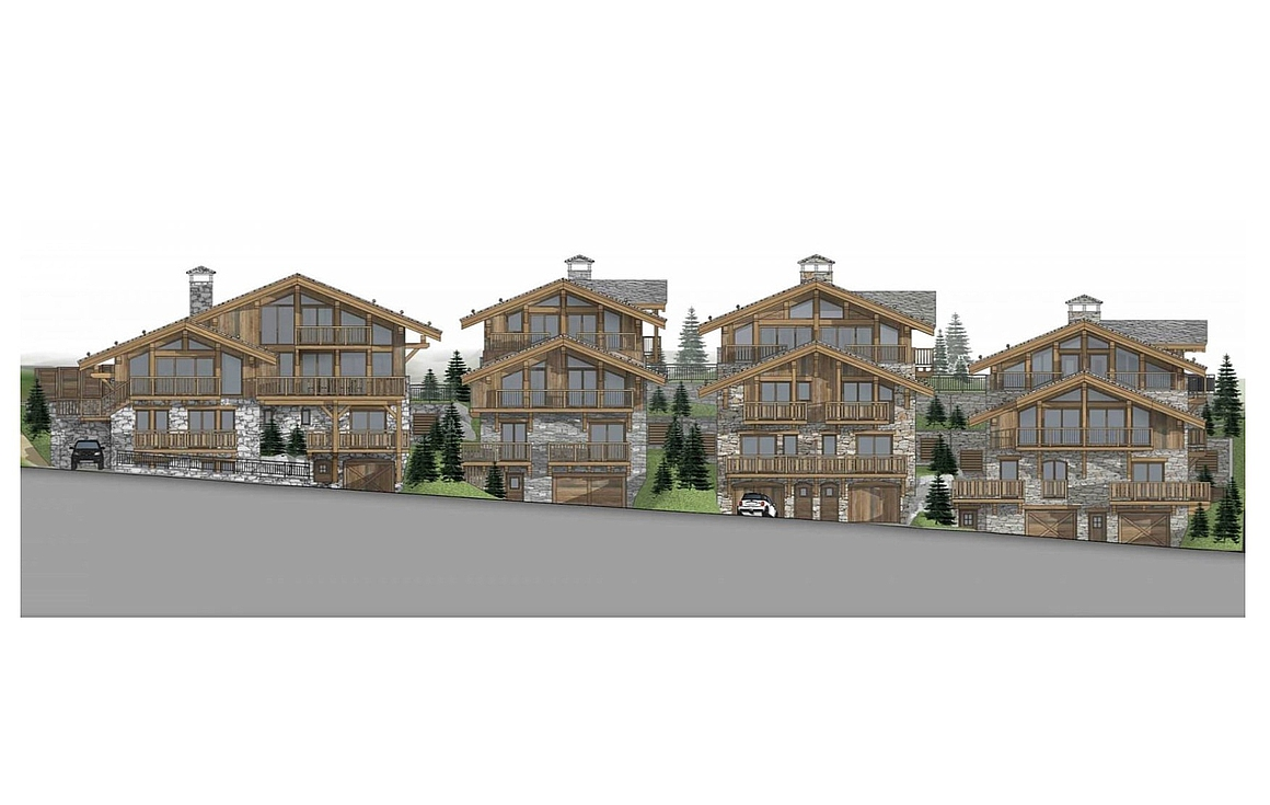 3D Visual of the off plan chalets for sale in France