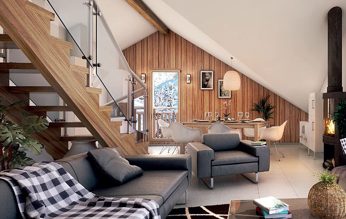 Spacious interior living areas