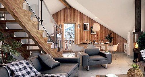 Spacious interior living areas