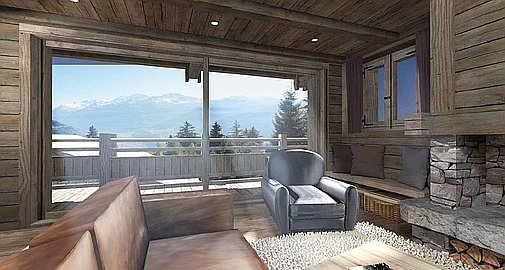 Example interior design of the chalet