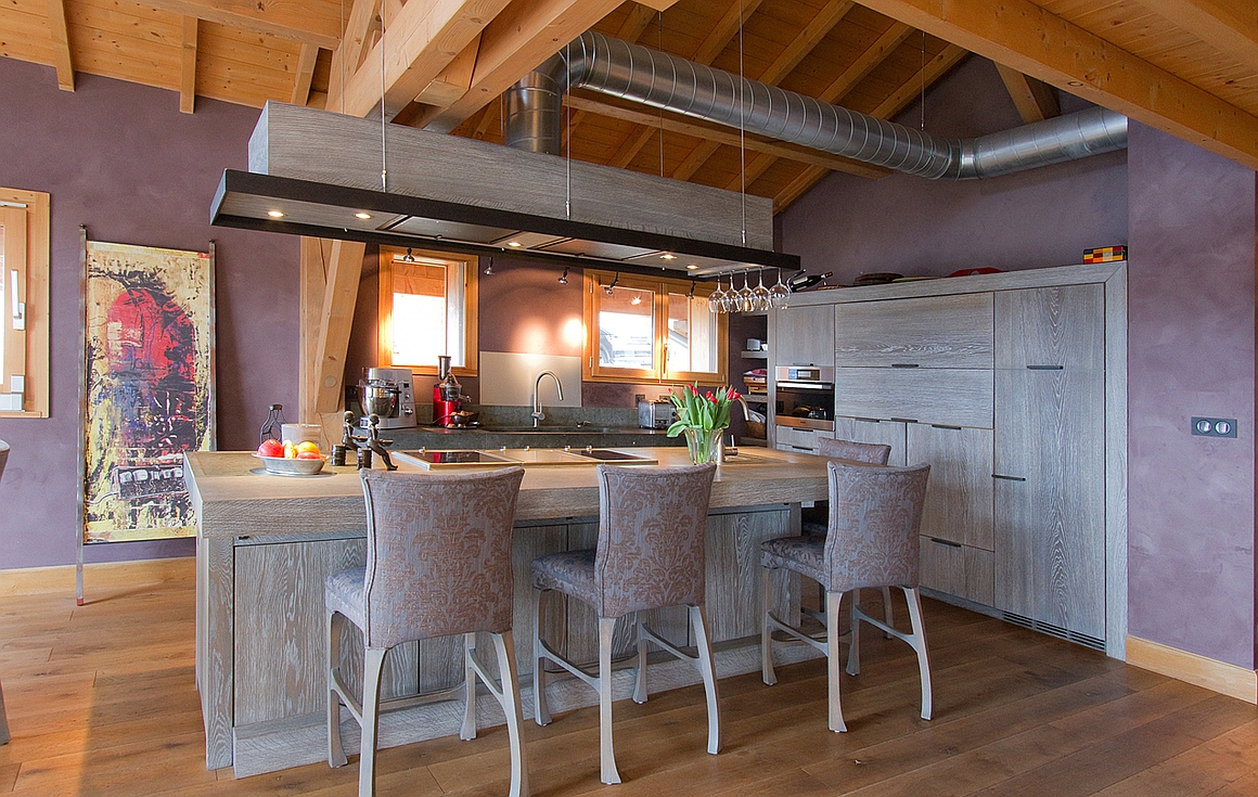 Kitchen of one of the apartments in the chalet for sale