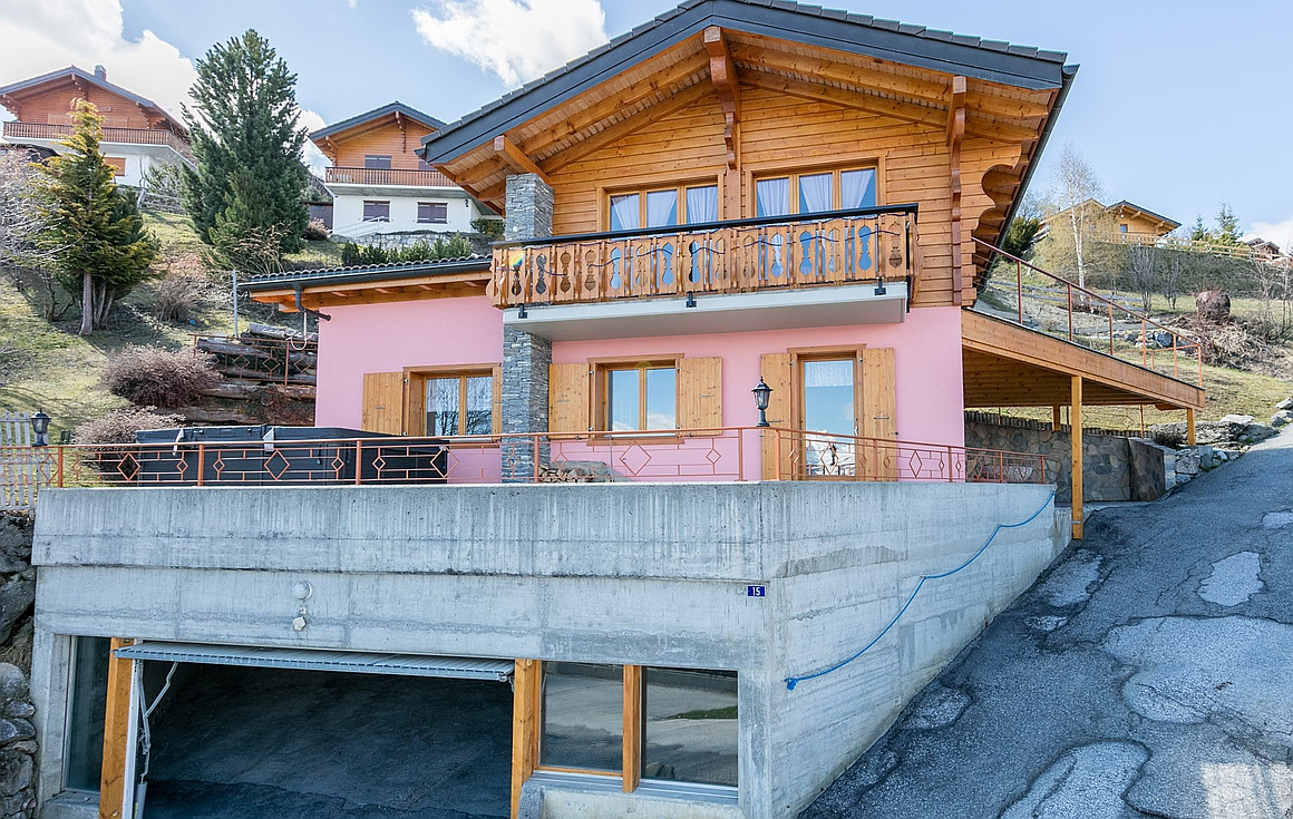 The exterior of the chalet