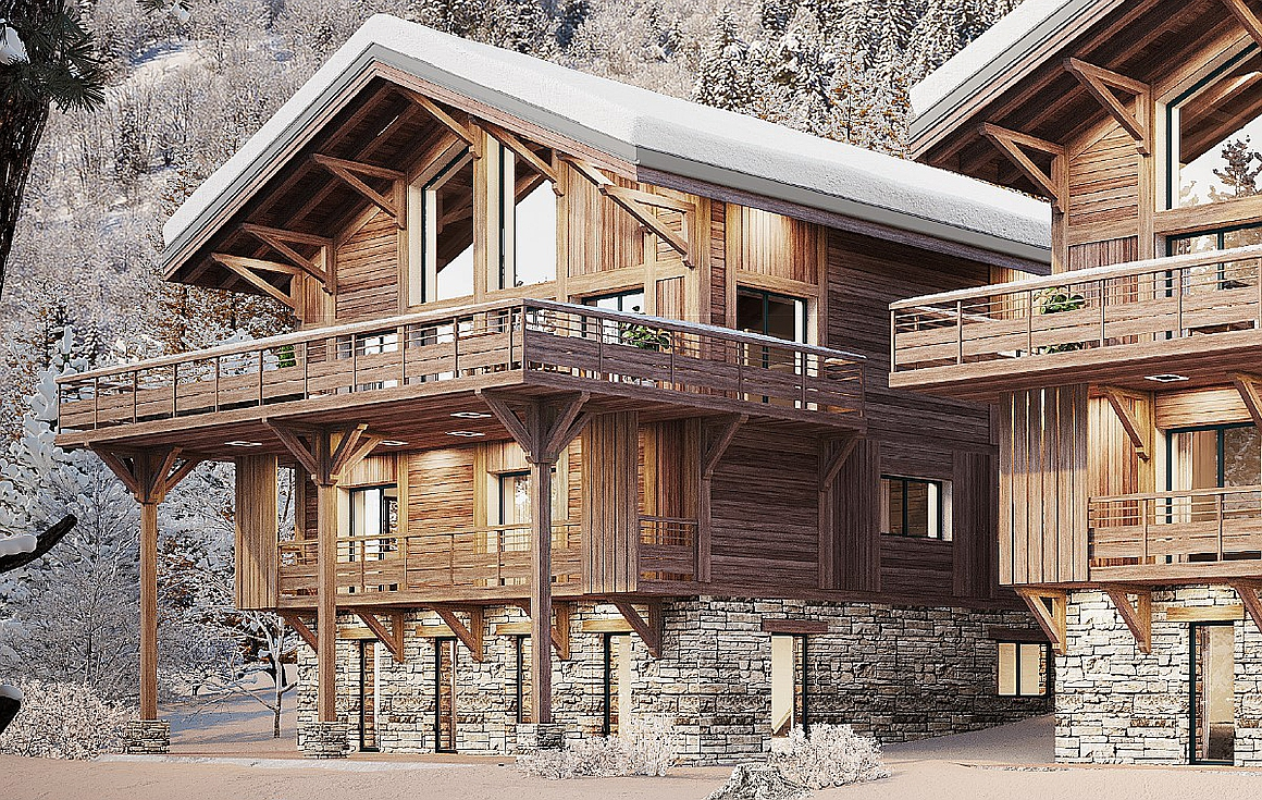 The large 302m2 chalet for sale in Vaujany