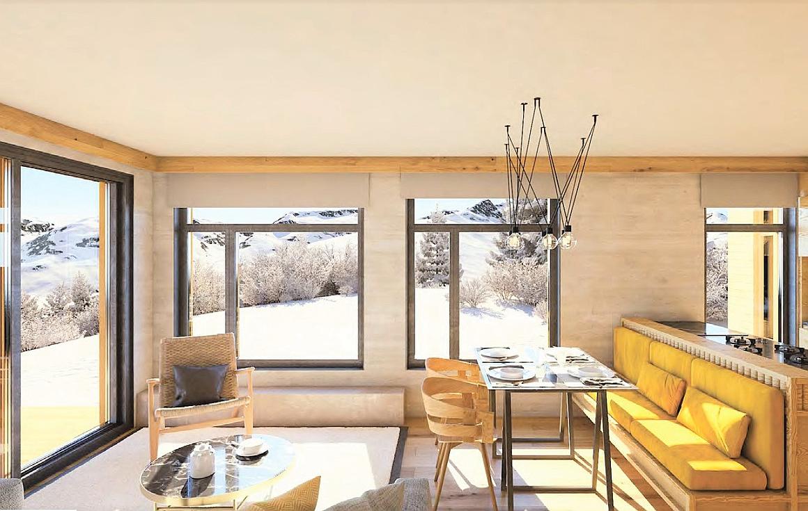 Example Interiors of Les Arcs apartments