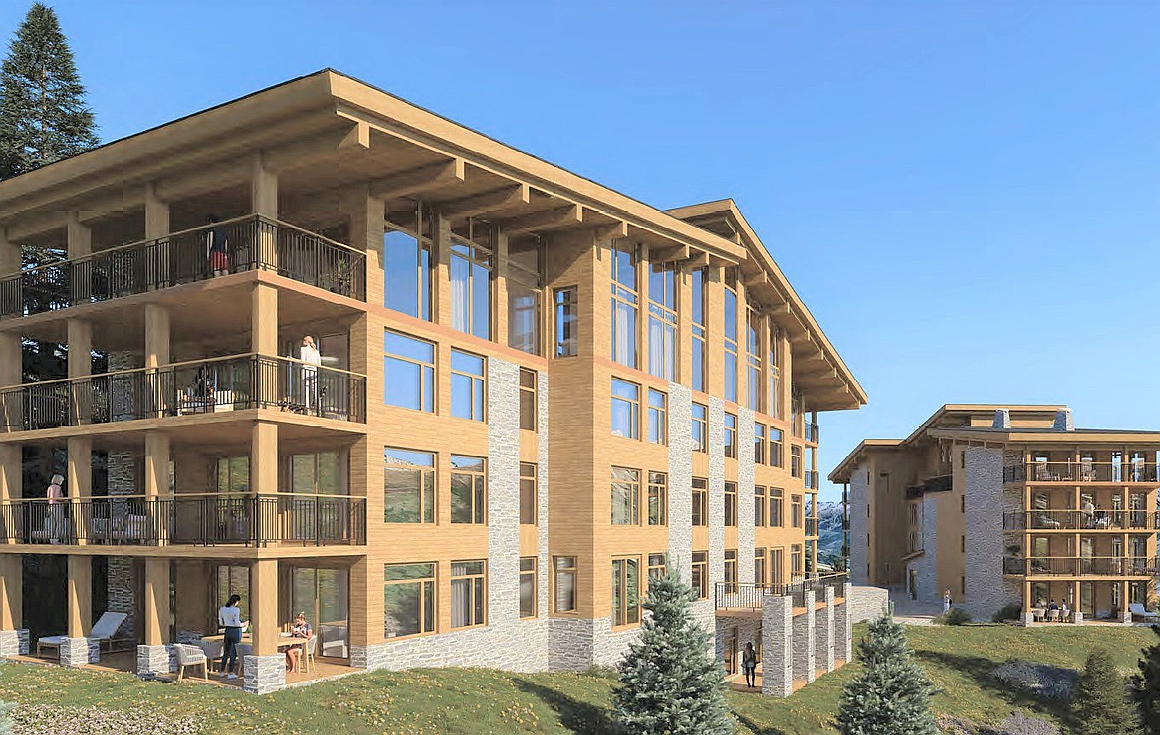 Exterior of apartments for sale in Les Arcs
