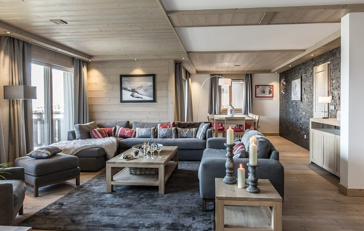 Living areas of the properties for sale in Meribel