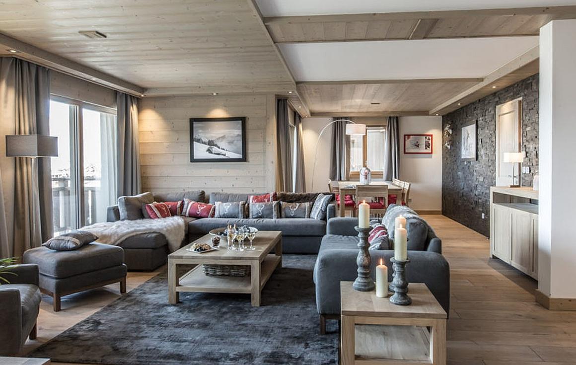 living areas of properties for sale in Meribel