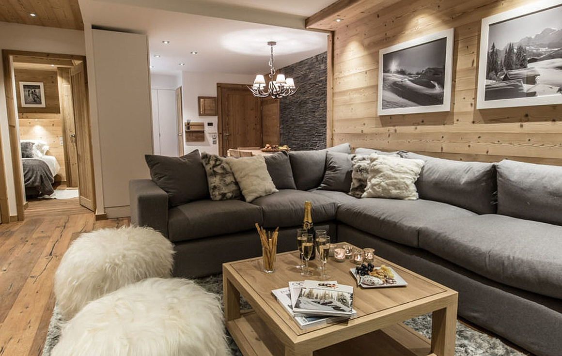 Living areas of apartments and chalets for sale in Meribel
