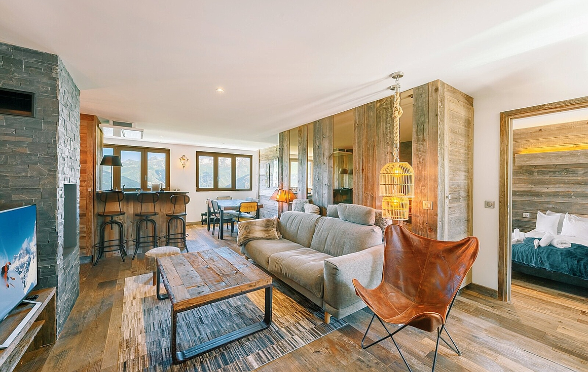 Living room of the apartment for sale in Courchevel