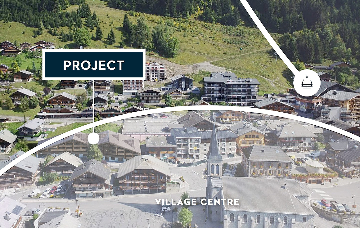 The location of the Chatel apartments for sale