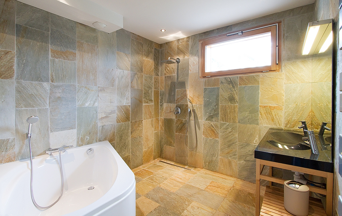 Luxury bathrooms all with marble floors and tiles