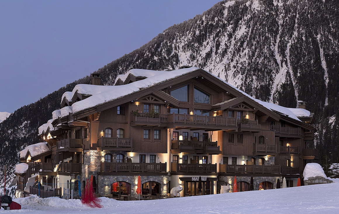 The ski apartments