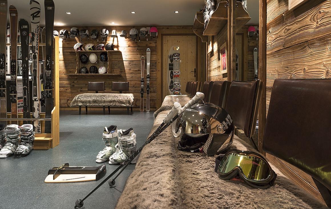 The ski room