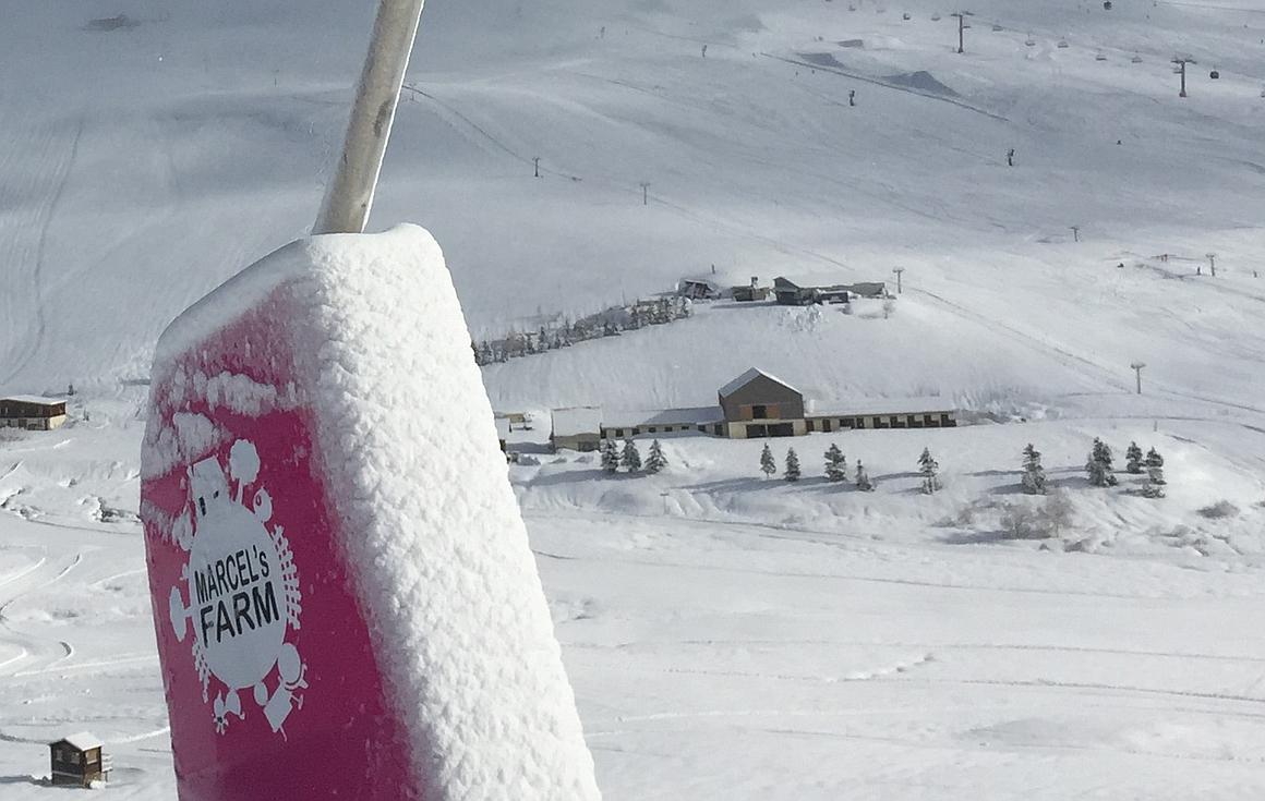 Marcel's Farm famous area on the Alpe d'Huez slopes