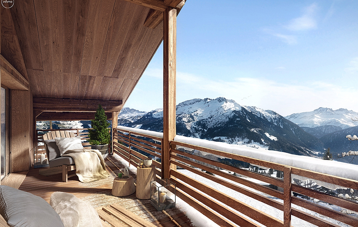Outstanding South facing views from the apartment terraces