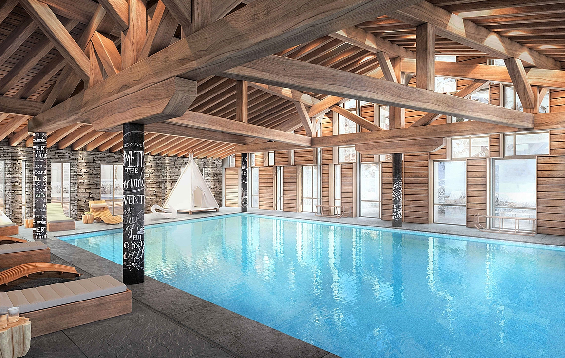 Outstanding heated indoor and outdoor pools within the complex